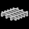 Render da grelha para sumidouro EG, grelha frameless em aço inoxidável AISI304 da dimensões L168 A168 H28 sem sistema de fixação, classe de carga M125.