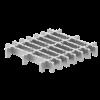 Render da grelha para sumidouro EG, grelha frameless em aço inoxidável AISI304 da dimensões L218 A218 H30 sem sistema de fixação, classe de carga M125.