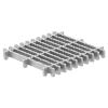 Render da grelha para sumidouro EG, grelha frameless em aço inoxidável AISI304 da dimensões L268 A268 H30 sem sistema de fixação, classe de carga M125.