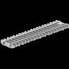 Render da grelha para canal Modular 125, grelha frameless em aço inoxidável AISI304 da dimensões L500 A125 H20/30 sem sistema de fixação, classe de carga C250.