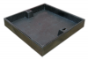 Render de la tapa BASIC rellenable en fundición dúctil, de dimensiónes L500 A500 H90 clase de carga C250.