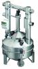 Render do separador de gorduras aéreo LIPATOR-S-RM NS4 em aço inoxidável AISI304, de dimensões L1234 A1248 H1841 DN100, com agitador.