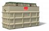 Render da ETAR CLARA standard horizontal para tamanhos nominais superiores a 32 en polipropileno