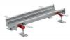 Render do canal Modular 125 L500 H63 de altura interior H50 em aço inoxidável AISI304