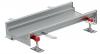 Render do canal Modular 200 L500 H81,5 de altura interior H60 em aço inoxidável AISI304