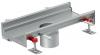 Render do canal Modular 200 L500 H81,5 de altura interior H60 em aço inoxidável AISI304 com saida central DN/OD 110