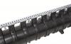 Render detalle de la reja Q-Guard enacero galvanizado F900 del canal QMAX