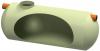 Render del decantador enterrado DECANTADOR-G-H de plástico reforzado con fibra de vidrio (GRP).