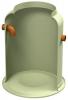 Render del decantador enterrado DECANTADOR-G de plástico reforzado con fibra de vidrio (GRP).