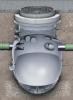 Render del decantador enterrado COALISATOR-P de polietileno de alta densidad (HDPE).