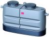 Render do separador de gorduras aéreo LIPUJET-P-SD em polietileno de alta densidade (HDPE), dividido, extensão com tubo de sucção (D).