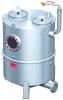 Render del separador de grasas aéreo LIPUJET-S-RB de acero inoxidable AISI316, redondo.