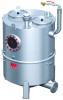 Render do separador de gorduras aéreo LIPUJET-S-RD em aço inoxidável AISI316, redondo, extensão com tubo de sucção (D).