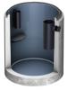 Render del separador de grasas enterrado LIPUMAX-C-B FST de hormigón armado, con recubrimiento interno de resina.