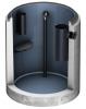 Render del separador de grasas enterrado LIPUMAX-C-D FST de hormigón armado, con recubrimiento interno de resina, extensión con tubo de succión (D).