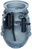 Render del separador de grasas enterrado LIPUMAX-P-D de polietileno de alta densidad (HDPE), extensión con tubo de succión (D).