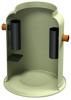Render do separador de gorduras enterrado LIPUMAX-G-B em plástico com reforço de fibra de vidro (GRP).