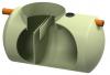 Render do separador de gorduras enterrado LIPUMAX-G-H-B em plástico com reforço de fibra de vidro (GRP), horizontal.