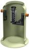 Render del separador de hidrocarburos enterrado OLEOPATOR-G de plástico reforzado con fibra de vidrio (GRP).
