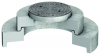 Render da tampa ajustável para separador de hidrocarbonetos. Inclui 1 tampa em fundição e realce em betão.