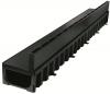Render do canal HEXALINE 1.0 H79 em polipropileno com grelha brickslot L em polipropileno A15 cor preto