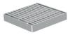 Render da grelha para sumidouro EG, grelha anti-salto em aço inoxidável AISI304 da dimensões L168 A168 H25 sem sistema de fixação, classe de carga L15.