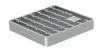 Render da grelha para sumidouro EG, grelha de barras antiderrapantes em aço inoxidável AISI304 da dimensões L168 A168 H25 sem sistema de fixação, classe de carga M125.