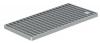 Render da grelha para canal BOX HF, grelha de barras antiderrapante em aço inoxidável AISI304 da dimensões L500 A268 H20/30 sem sistema de fixação, classe de carga M125.