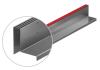 Render de la reja para canal MULTIDRIAN/MULTILINE/XTRADRAIN 100, reja brickslot-ST L H105 triple en acero inoxidable AISI304 de dimensiones L1000 A123 H129 sin sistema de fijación, clase de carga C250.