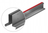 Render de la reja para canal MULTIDRIAN/MULTILINE/XTRADRAIN 100, reja brickslot-ST L H105 strip en acero inoxidable AISI304 de dimensiones L1000 A123 H129 sin sistema de fijación, clase de carga C250.