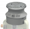 Render del la tapa ajustable para separador de hidrocarburos. Incluye 1 tapa de hormigón Ø600 A15 y realce de polipropileno de alta densidad (HDPE) gris de Ø836 H727.