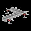 Render do canal em L Modular 125 L515X515 H63 de altura interior H50 em aço inoxidável AISI304