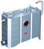 Render del separador de grasas aéreo LIPUJET-S-OB de acero inoxidable AISI316, ovalado.