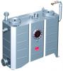 Render del separador de grasas aéreo LIPUJET-S-OD de acero inoxidable AISI316, ovalado, extensión con tubo de succión (D).